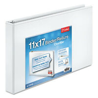 Cardinal 11 X 17 Clearvue Slant-d Ring Binder 1 1/2 Cap White 22122 on sale