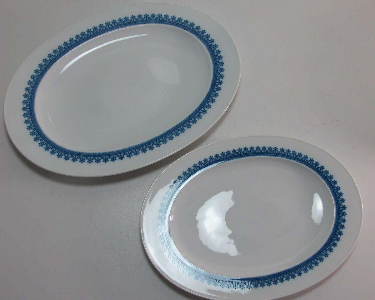 Große Fleischplatte + Platte Rosanthal Composition blaue Sterne Wirkkala 2 Platt | Berühmter Laden