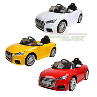 Electric 12v Twin Motor Audi Tt Rs Kids Ride On Car Parental Control