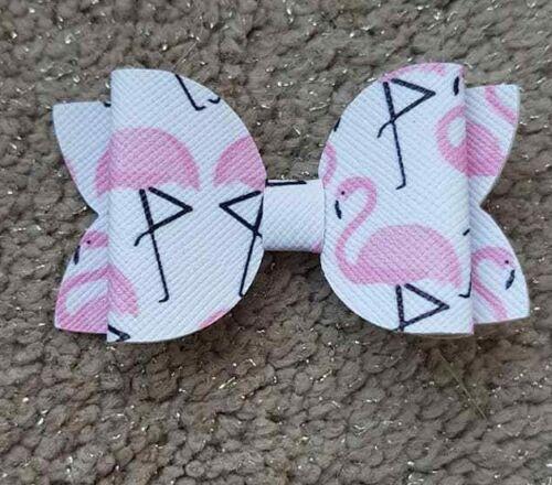"""environ 5.08 cm Petit 2.5/"""" Pouces Clip Bows Flamingo Extra 2 in"""