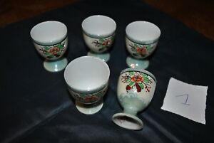 Intelligent 5 Anciens Coquetiers - Egg Cup - En Porcelaine Made In Japan - Oriental