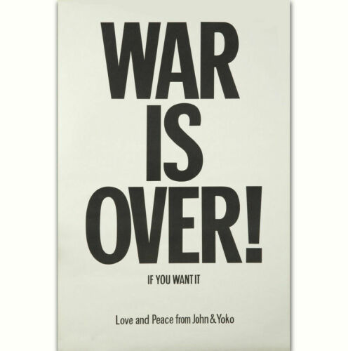 Classic War is Over 1969 Love And Peace Classic Quote Fabric Decor Poster B128