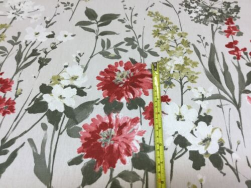 Ruby,for Curtains//Upholstery//Craft//Cushions.Iliv//SMD Wild Meadow Flower Fabric
