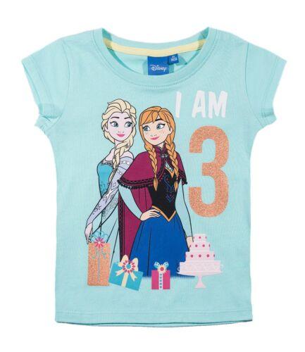 Neu Mädchen T-Shirt Kurzarm Top Frozen Eiskönigin 92 98 104 110 116 128 140 #802