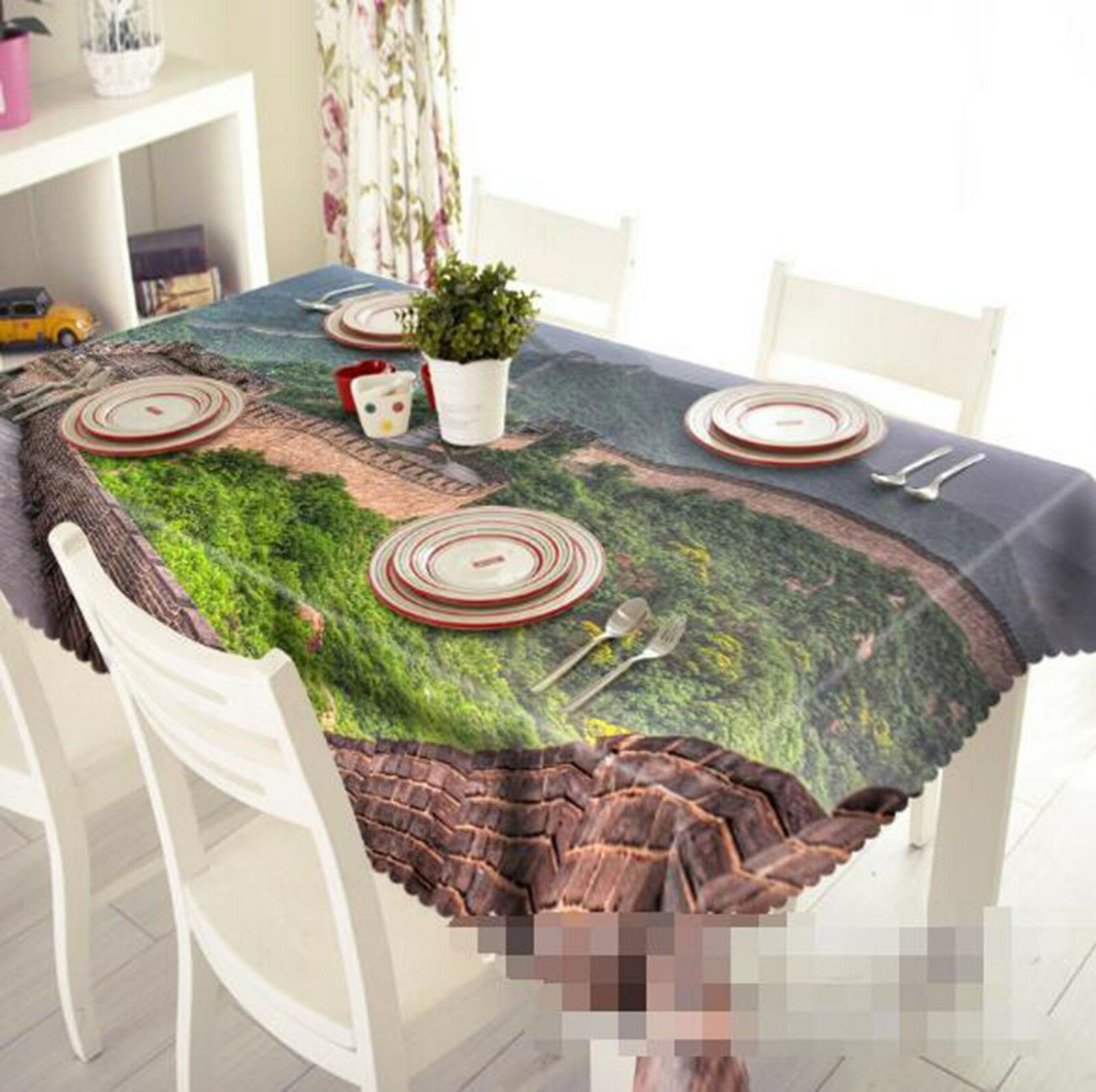 3D Great Wall 027 Tablecloth Table Cover Cloth Birthday Party Event AJ Lemon