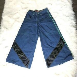 JNCO-Jeans-Solid-State-Reflective-Appearance-2000-Wide-Leg-Men-039-s-Size-30W-32L