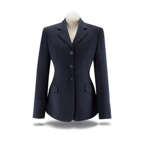 NEW RJ Classics Ladies Show Coat- Navy Plaid- D8781 - Various Sizes