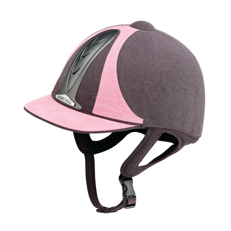 NEW PAS015 STANDARD  HARRY HALLPINK GREY LEGEND RIDING HAT HELMET 7 3 8 60cm