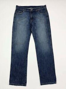 Cotton-star-jeans-uomo-usato-W40-tg-54-gamba-dritta-blu-denim-boyfriend-T6769
