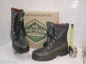 7001 Wood Amp Stream Kangaroo Mens Green Leather Fieldboot