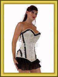 Extra Lang Vollbrust korsett corsage aus satin Gr,34~36~38~40~bis 56