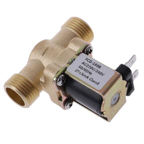 G1//2/'/' Brass Electric Solenoid Valve DC 12v 24v AC220v for Solar Water HeaterPT