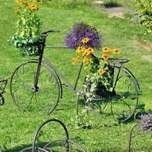 blumen fahrrad antik metall garten dekoration hingucker blumenampel h ngeampel ebay. Black Bedroom Furniture Sets. Home Design Ideas