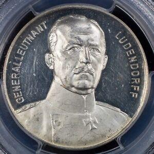 1914 German Emnpire WWI Era PROOF Gen. Ludendorff Liege Victor, PCGS SP62