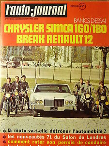 L-039-AUTO-JOURNAL-1970-22-ESSAI-CHRYSLER-160-amp-180-RENAULT-12-BREAK-GP-DU-MEXIQUE