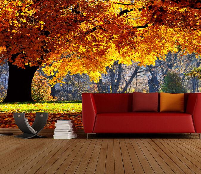 3D üppige schöne bäume 7 Fototapeten Wandbild Fototapete BildTapete Familie DE
