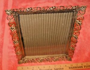 Thin Gold Tone Metal Glass Picture Frame Ebay