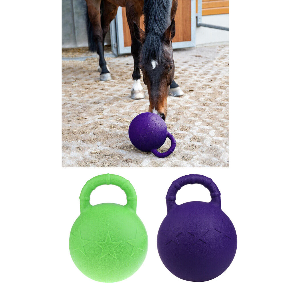 Equine Jolly Ball Heavy Duty Horse Pony Chew Jugar Juguete Balls with Handle