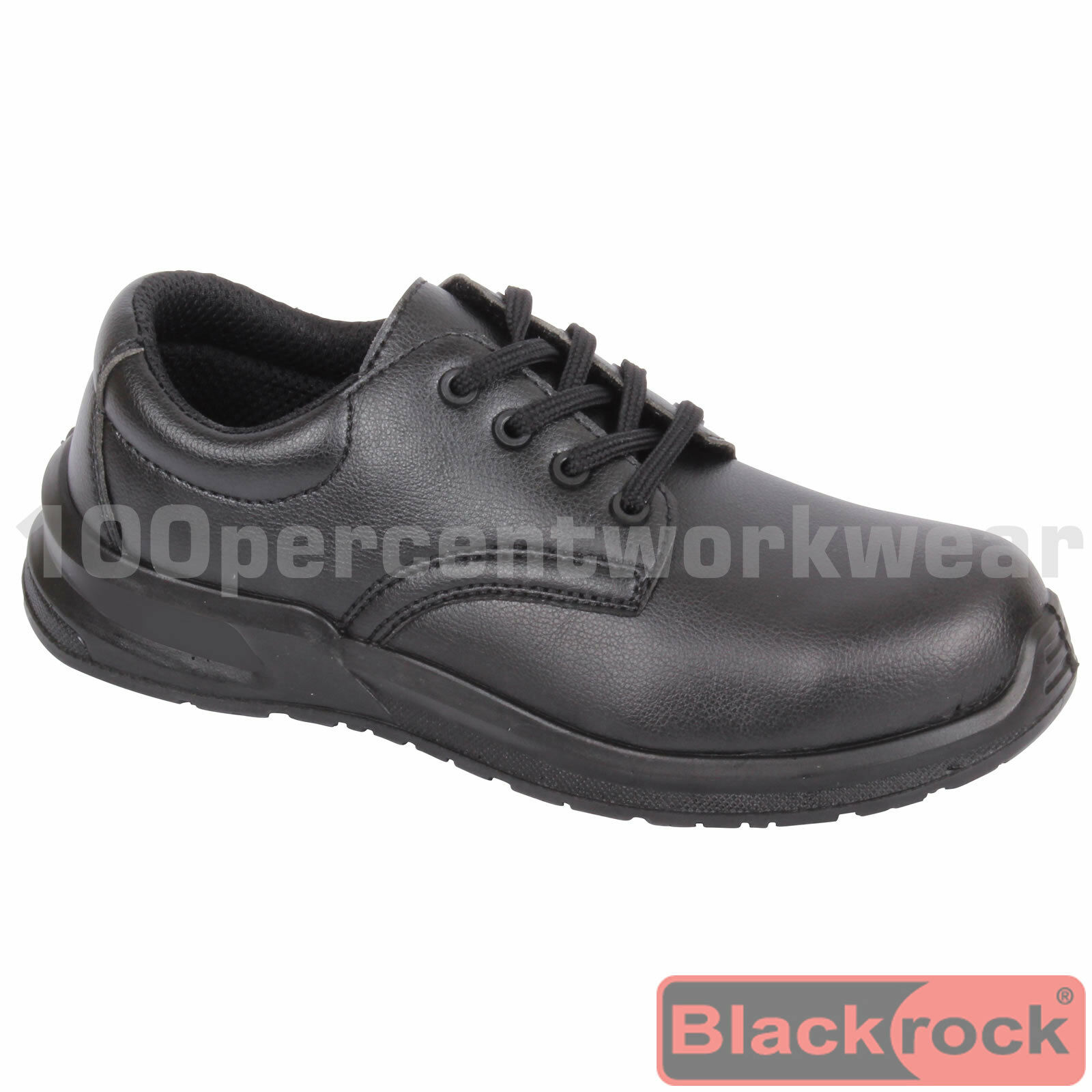 Noirrock SRC03 Noir Sécurité Travail Lacet Chaussures Acier Orteil Casquette Food Medical Lab
