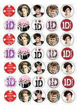 35x1D One Direction Edible Cupcake Fairy Cake Birthday Cake Toppers Wafer Paper