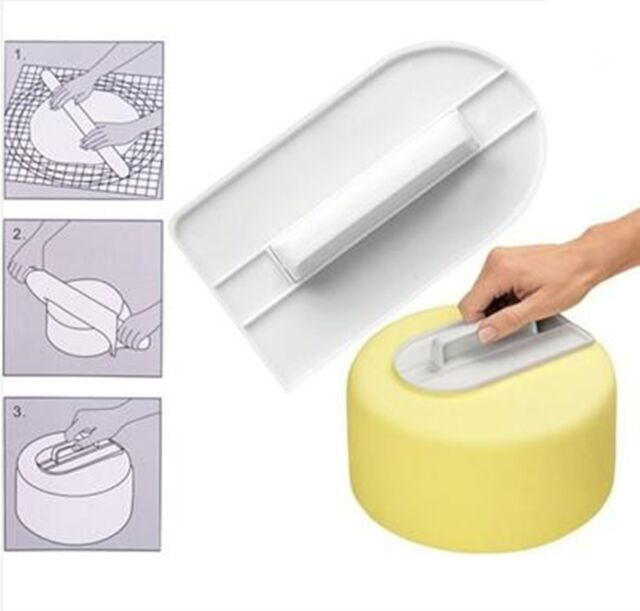 New DIY Cake Decorating Tools Smoother Baking Tools Mould Sugarcraft Polisher Z