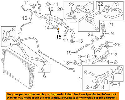 NEW OEM 2004 2005 2006 VW Volkswagen Touareg Engine Coolant Thermostat Assembly