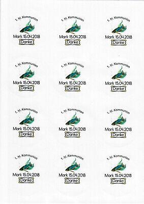 500 pcs kleine runde Aufkleber Schwarz Danke Geschenkaufkleber Sticker Hochzeit