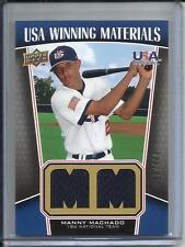 Manny Machado 2009 Upper Deck USA Game Used Jersey #290/499