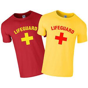 LIFEGUARD T Shirt Funny Life Guard Costume Beach Fancy Dress T-Shirt Stag Do