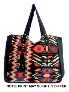 New Mujeres Bolso Indian Bandolera Jacquard Tote Cotton Bolso Shopper Hippy PwZawqgH