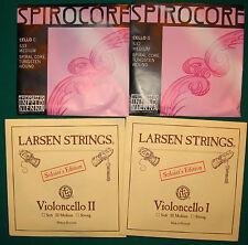 Spirocore C+G Wolfram+Larsen soloist A+D, kompl.Satz Supersaiten für Cello 4/4
