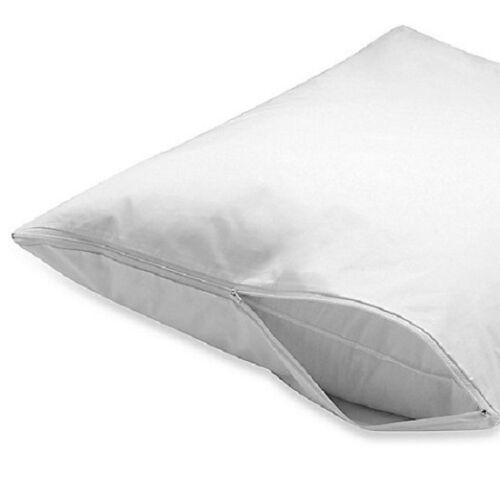 2 queen zippered pillow protectors pillow covers 20x30/'/' cotton blend t-200
