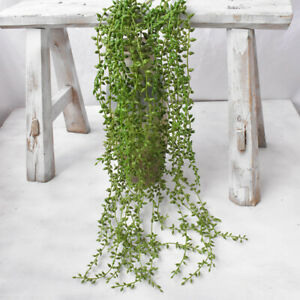 Artificial-Hanging-Plants-Fake-Succulents-String-Of-Pearls-Green-Vine