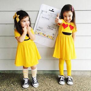 6f761cbeb1c9 Beautiful Toddler Infant Kids Baby Girls Dress Emoji Emoticon Smiley ...