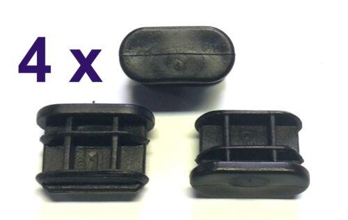4 x 12x24 mm lamelles rohrstopfen ovale noir extrémités BOUCHONS NEUF