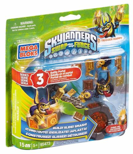 15 Pieces 95473 Mega Bloks SKYLANDERS Swap Force TRIGGER HAPPY BATTLE PORTAL