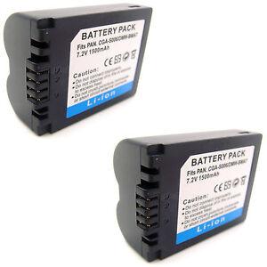 BATTERIA 2x per Panasonic dmc-fz28ef-k dmc-fz28ef-s dmc-fz18eb-k dmc-fz18eg-k