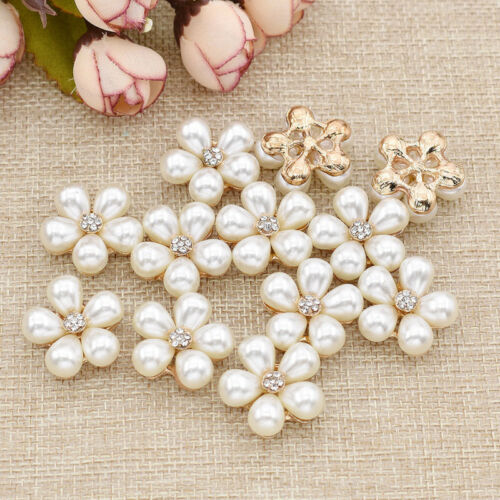 Lot of 12 DIY Wedding Bridal Bouquet Brooch Flower Buttons Pins Jewelry Gifts