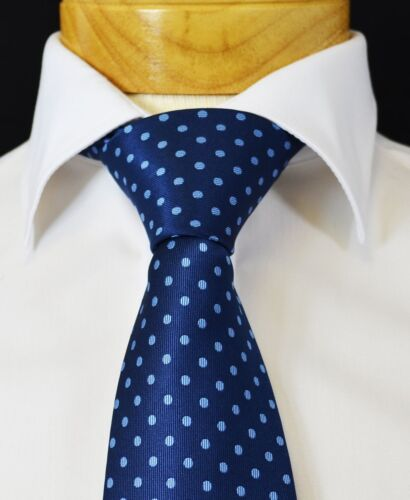 Extra Long Blue on Blue Polka Dots Men/'s Tie