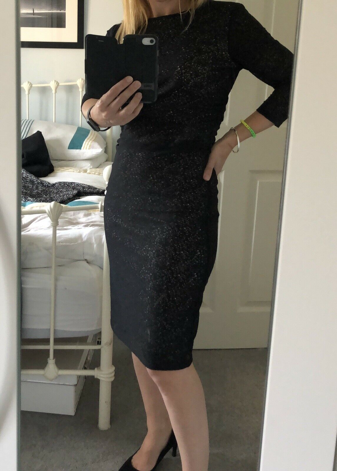 Reiss Lace Fitted Dress Size 10