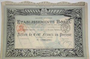 Treu Etablissements Borel Luftfahrt Action Von 100 Fr 1918 (007293) Kaufe Eins, Bekomme Eins Gratis