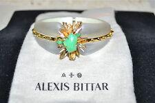 New $345 ALEXIS BITTAR Desert Jasmine Lucite Spiked Hinged Bracelet Elements