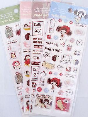 Takeart Pura Girl Epoxy Sticker Sheet (Your Choice of Design)~KAWAII!!