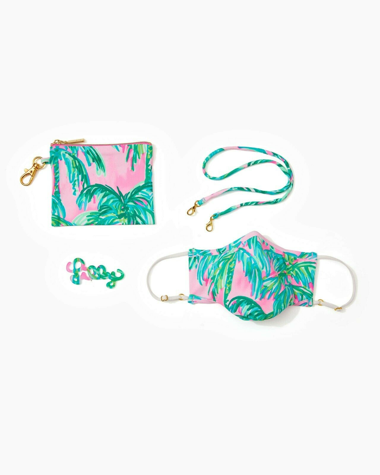 NWT Authentic Lilly Pulitzer Face Masks Set NEW