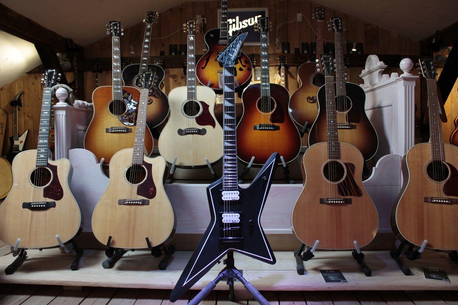 Jackson js32 Gus G Star en satén negro-e-guitarra  B-Ware, B-Ware, B-Ware, ópticos deficiencias  cedaa7