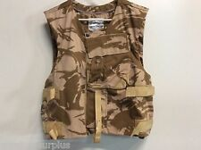 GENUINE BRITISH MILITARY ARMY DESERT CAMO PLATE CARRIER VEST SZ 190/120 DPM L XL