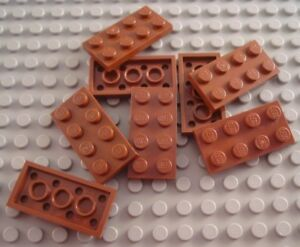 LEGO Lot of 12 Reddish Brown 1x1 Round Plate Pieces