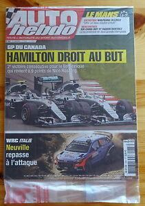 AUTO-HEBDO-n-2067-du-15-06-2016-NEUF-F1-GP-Canada-WRC-Italie-24H-du-Mans
