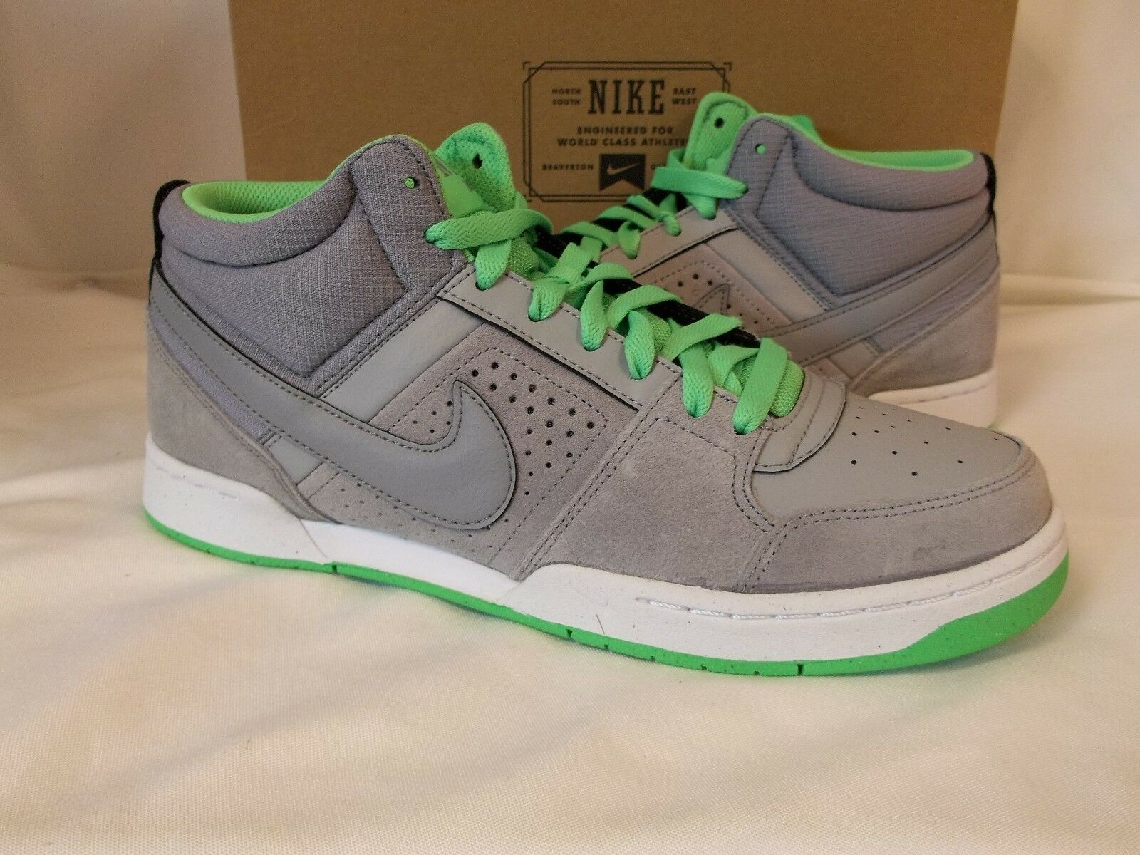 Nike 11.5 M New Renzo 2 Green Grey Athletic Sneakers New M Mens Shoes 32397e