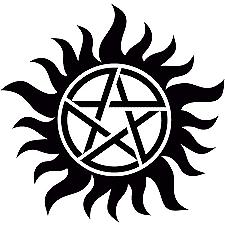 Supernatural Pentagram Anti Possession Symbol Tattoo Car Decal